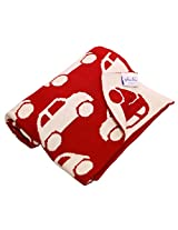 Pluchi Cotton Knitted Baby Blanket - Cool Cars