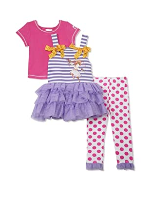 Fancy Nancy Girl's 3-Piece Dancer Set (Purple/Pink)