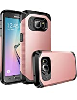 Galaxy S7 case, E LV Samsung Galaxy S7 (SHOCK PROOF DEFENDER) Slim Case Cover - Impact Protection **NEW**[Black] Ultimate protection from drops and impacts for Samsung Galaxy S7 [ROSE GOLD/BLACK]