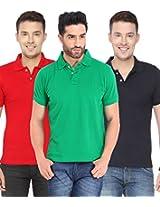 Concepts Men's Casual Shirt (TSHT_C3_RDGRNB_Multi_40)