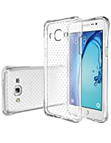On5 Case, E LV Galaxy On5 Case Cover - Clear Soft Rubber Hybrid ARMOR Defender PROTECTIVE Case COVER for Samsung Galaxy On5- CLEAR