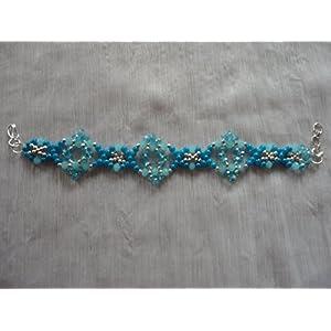Mona Jewels Blue Patterned Bracelet