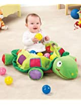 Plush Turtle Ball Pit Baby Toy Playcenter, Includes 50 Pit Balls!