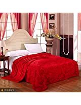 Designer Passionate Red Roses Warm Double Blanket Coral Fleece ~ Super Soft High Quality Luxury
