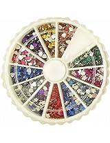 1200 Flower & Heart Nail Art Rhinestone Decorations