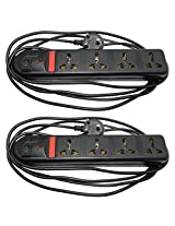 Pinnacle Combo Set Of 2Pc 4 Socket 3 Meter Cord Regular Series Computer Buster