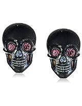 Tarina Tarantino Classic Multi Lucite Skull Post Earrings