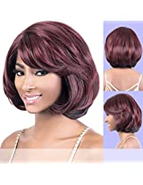 Ldp Dia (Motown Tress) Synthetic Lace Part Wig In Redwine