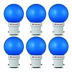 Bajaj 0.5-Watt B22 Base Ping Pong LED Bulb (Blue and Pack of 6)