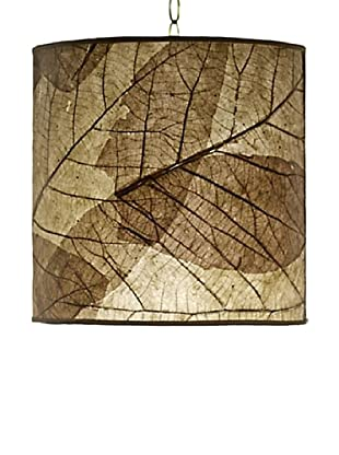 Foreign Affairs Natural Teak Leaf Hanging Lamp, Natural