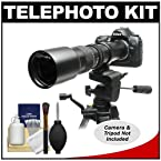 Rokinon 500mm f/8 Telephoto Lens with 2x Teleconverter (=1000mm) for Nikon D3100 D3200 D5100 D7000 D700 D800 D4 Digital SLR Cameras