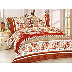 Amethyst Double Bed Sheet With Two Pillow Covers