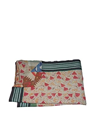 Large Vintage Gowri Kantha Throw, Multi, 60