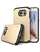 Rearth Ringke Max Case Double Layer Heavy Duty Protection Armor Case for Samsung Galaxy S6 - Retail Packaging - Royal Gold