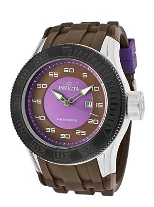 Invicta 11944 - Reloj de Caballero cuarzo poliuretano Marrón