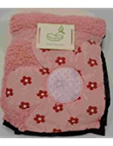 Beansprout Camille Match Back Blanket, Pink/White