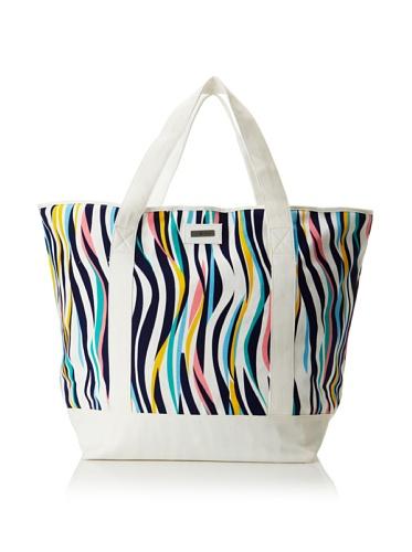 Julie Brown Medium Tote Bag with Cooler Lining (Navy Tiger)
