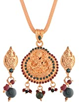 Ganapathy Gems Gold Plated Pendant Set for Women (6144)