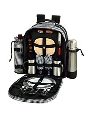 Picnic at Ascot Coffee & Picnic Backpack For Two, Houndstooth