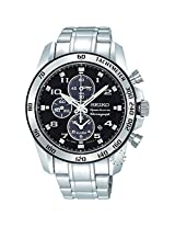 Seiko Chronograph Black Dial Men's Watch - SNAE61P1