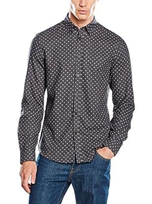 Ben Sherman Camicia Uomo Ls Umbrella Print Marl