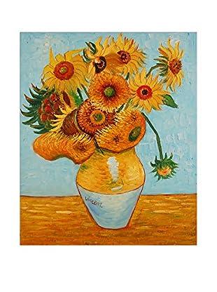 Arte dal Mondo  Wandbild Van Gogh Vaso Con Girasoli