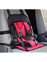 Multi-function Adjustable Baby Car Cushion Seat with Safety Belt - For Babies & Toddlers (Red)