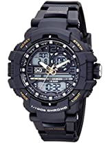 Q&Q Analog-Digital Black Dial Men's Watches - GW86J004Y