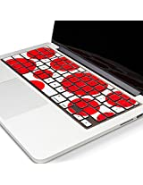 Kuzy - Circles RED & WHITE Keyboard Cover Silicone Skin for MacBook Pro 13