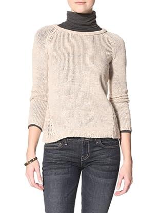 Acrobat Women's Open-Knit Sweater (Stone)
