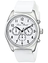 "Lucien Piccard Men's LP-10588-02 ""Moderna"" Stainless Steel Watch with White Silicone Strap"
