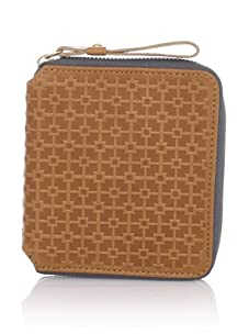 Hlaska Artifacts Women's Embossed Small Zippered Wallet (Camel)