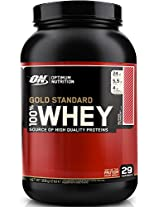 Optimum Nutrition 100% Whey Gold Standard - 2 lbs (Delicious Strawberry)