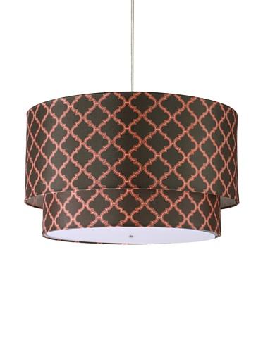 Inhabit Hudson Double Pendant Lamp (Chocolate/Persimmon)