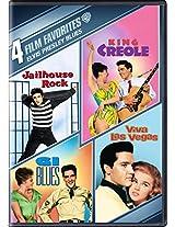4 Film Fav:Elvis Presley Blues: G.I. Blues/ King Creole/ Jailhouse Rock/ Viva Las Vegas (DVD)