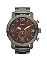 Fossil Nate Stopwatch Analog Brown Dial Unisex Watch JR1355