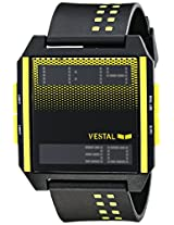 "Vestal Men's DIG031 ""Digichord"" Digital Display Watch with Yellow and Black Band"