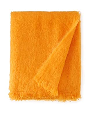 BRUN DE VIAN-TRIAN Mohair Solid Throw, Coq De Roche