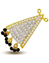 Surat Diamond 18K Yellow Gold Diamond Tanmaniya Pendant