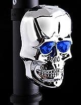 Skull Bike Bicycle 2 Laser Beams 7 Modes Rear Tail Waterproof(Blue)