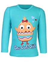 Babyhug Full Sleeves Top - Cute Chick Print