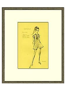 Vintage Women's Feraud Fashion Sketch c.1968