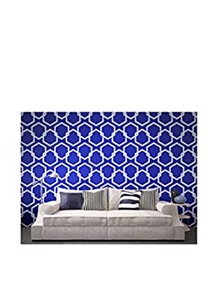Tempaper Designs Honeycomb Self-Adhesive Temporary Wallpaper, Deep Blue, 20.5