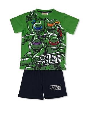 Licencias Pijama Tortugas Ninja (Verde / Marino)