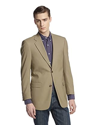 hickey Men's 2 Button Side Vent Solid Sportcoat (Tan)