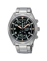 Seiko Men's SNN235 Chronograph Black Dial Stainless Steel Watch