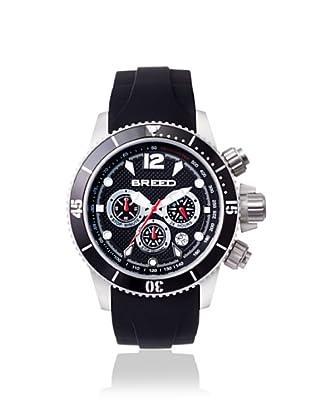 Breed Men's 4302 Salvatore Black Silicone Watch