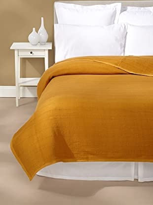 Coyuchi Willow Weave Blanket (Mustard)
