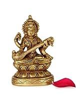 GiftsbyMeeta Brass Sarawati Statue Diwali Home Décor Product