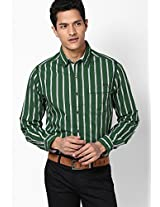Striped Green Casual Shirt Mufti